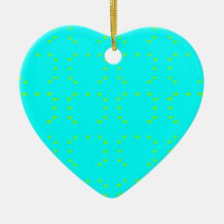 Cyan Green Ceramic Heart Decoration