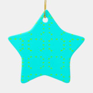 Cyan Green Ceramic Star Decoration