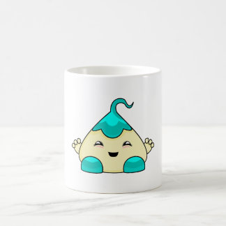 Cyan Kawaii Tickle Monster Coffee Mug
