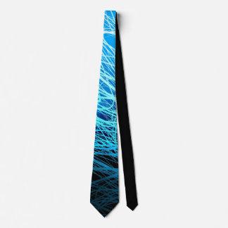 Cyan Linear Explosion2 - Tie