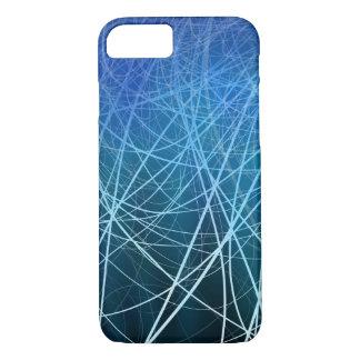 Cyan Linear Explosion - Apple iPhone Case