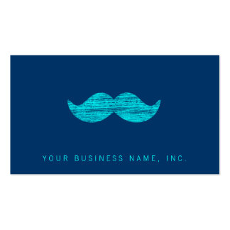 Cyan Mustache (Letterpress Style) Pack Of Standard Business Cards