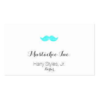 Cyan Mustache letterpress style Business Cards
