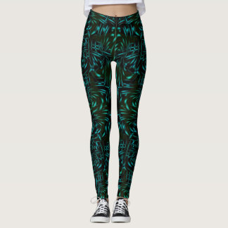 CYAN PETALS LEGGINGS