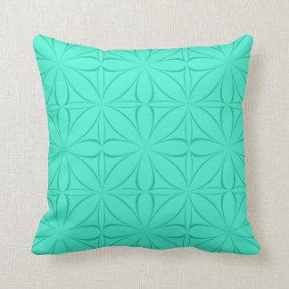 "Cyan Polyester Throw Pillow, Throw Pillow 16"" x16"""