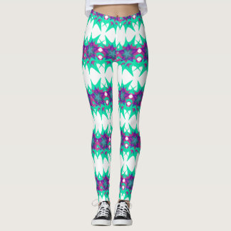 Cyan & Purple Star Leggings
