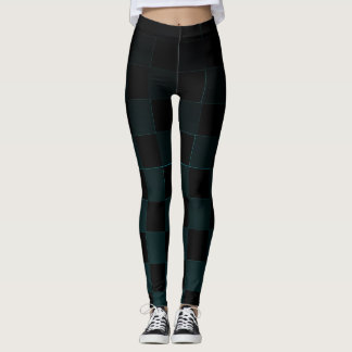 CYAN SQUARES LEGGINGS