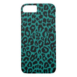 Cyan Teal Green Leopard Animal Print iPhone 7 Case