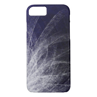 Cyan Texture Feathers - Apple iPhone Case