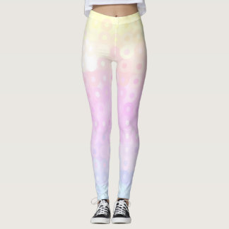 Cyan, Yellow, Magenta Circles Leggings