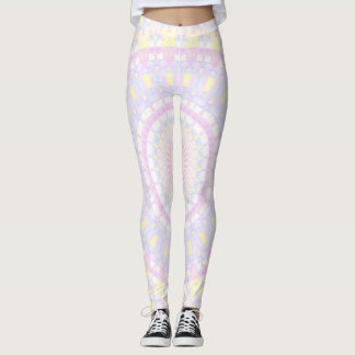 Cyan, Yellow, Magenta Kaleidosocope Leggings