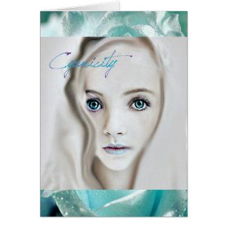 Cyanicity Rose Card