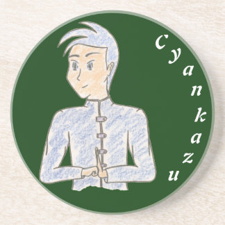 Cyankazu (with name) coaster