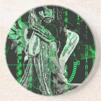 Cyber angel coasters