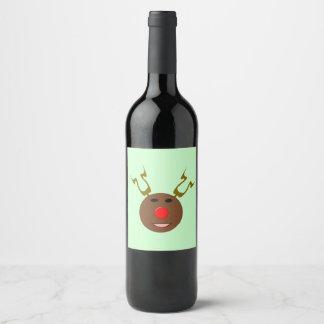 Cyber Christmas Reindeer Labels