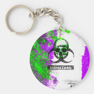 Cyber Death Goth Grunge Art Key Ring