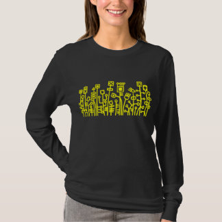 Cyber Garden - Yellow on Dark T-Shirt