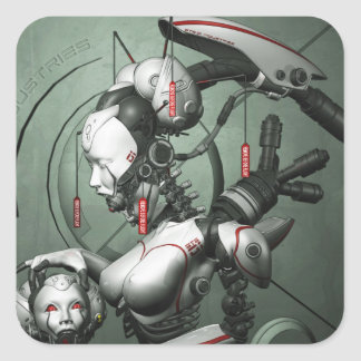 Cyber Geisha Sticker