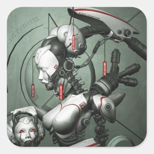 Cyber Geisha Sticker