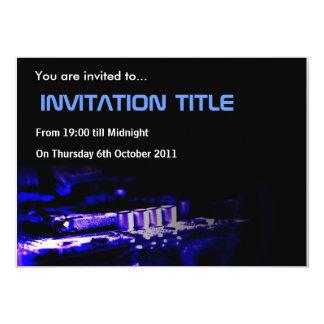 Cyber Invitation Blue Card