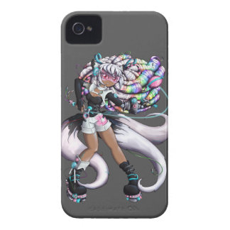 Cyber Kitsune Girl iPhone 4 Case