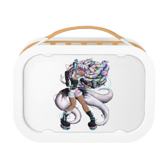 Cyber Kitsune Girl Lunch Box