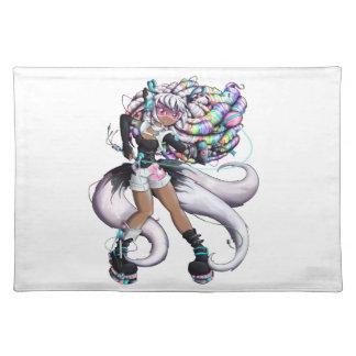 Cyber Kitsune Girl Placemat