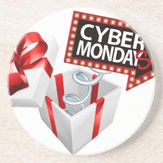 Cyber Monday Black Friday Sale Sign Coaster