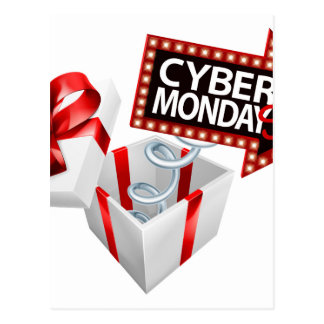 Cyber Monday Black Friday Sale Sign Postcard