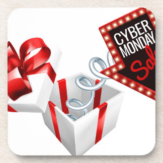 Cyber Monday Box Spring Sale Sign Coaster