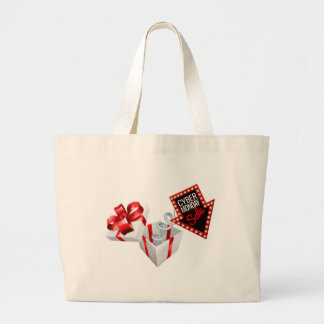 Cyber Monday Box Spring Sale Sign Large Tote Bag