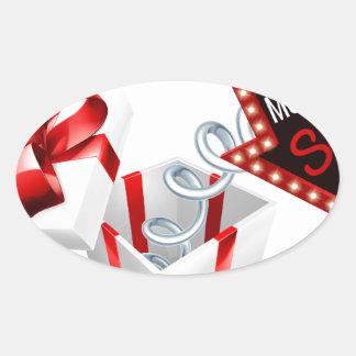 Cyber Monday Box Spring Sale Sign Oval Sticker