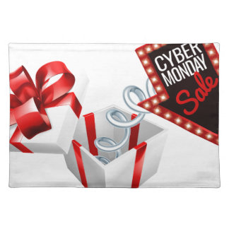 Cyber Monday Box Spring Sale Sign Placemat