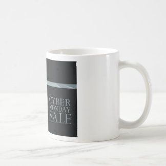 Cyber Monday Friday Sale Silver Ribbon Bow Design Coffee Mug