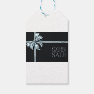 Cyber Monday Friday Sale Silver Ribbon Bow Design Gift Tags