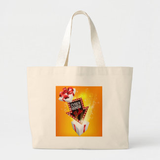 Cyber Monday Sale Exciting Gift Sign Large Tote Bag