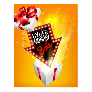Cyber Monday Sale Exciting Gift Sign Postcard