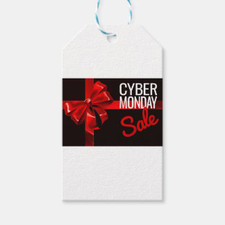 Cyber Monday Sale Gift Ribbon Bow Sign Gift Tags