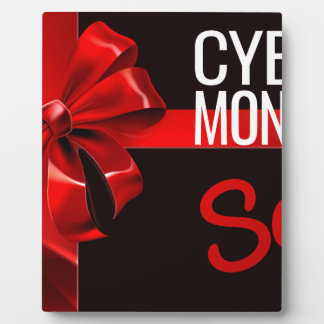 Cyber Monday Sale Gift Ribbon Bow Sign Plaque