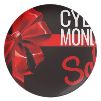 Cyber Monday Sale Gift Ribbon Bow Sign Plate