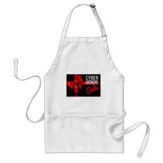 Cyber Monday Sale Gift Ribbon Bow Sign Standard Apron
