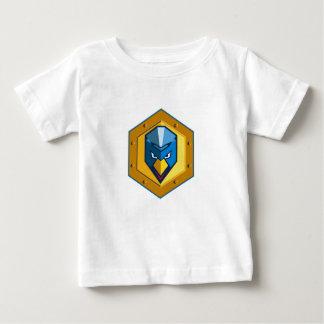 Cyber Punk Chicken Hexagon Icon Baby T-Shirt