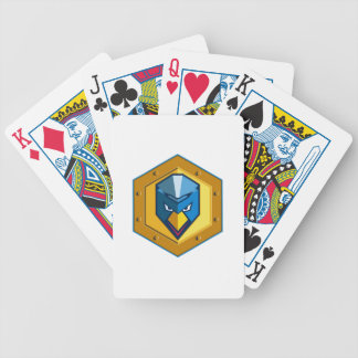 Cyber Punk Chicken Hexagon Icon Bicycle Playing Cards