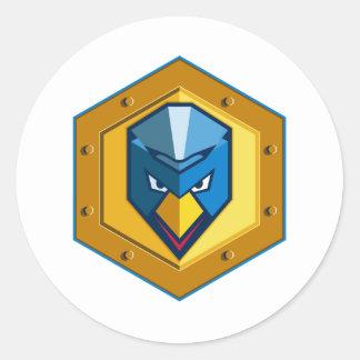 Cyber Punk Chicken Hexagon Icon Classic Round Sticker