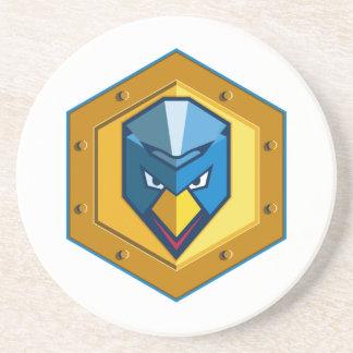 Cyber Punk Chicken Hexagon Icon Coaster