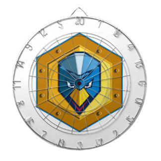 Cyber Punk Chicken Hexagon Icon Dartboard