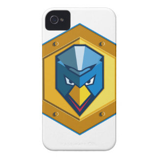 Cyber Punk Chicken Hexagon Icon iPhone 4 Case-Mate Cases
