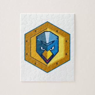 Cyber Punk Chicken Hexagon Icon Jigsaw Puzzle