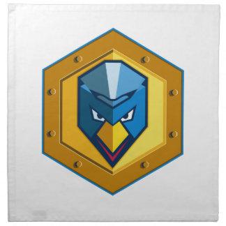 Cyber Punk Chicken Hexagon Icon Napkin