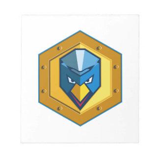 Cyber Punk Chicken Hexagon Icon Notepad